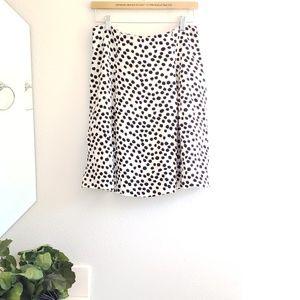 NWT LOFT • black and off white skirt
